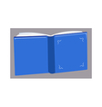A book is placed vector image