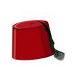 traditional turkish hat fez or tarboosh vector image