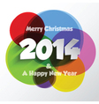 christmas and new year background 1211 vector image