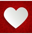 Valentines day greeting card with paper cut heart vector image vector image