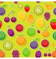 Seamless Pattern Background from Apple Orange vector image