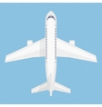 Airplane in the air vector image