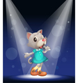 Cat Stage Performance vector image