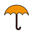 cute yellow umbrella cartoon vector image