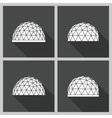 Geodesic dome flat vector image