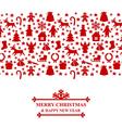 horiz xmas ornament red vector image