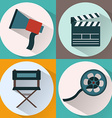 Making Movie icon set vector image