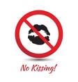 No kisses sign vector image