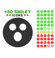 surprized smiley icon with bonus emotion clipart vector image