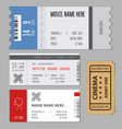 templates of modern tickets for cinema or concert vector image