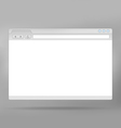 Web browser vector image