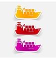realistic design element cargo ship vector image