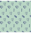 doodle seamless Medicine icons vector image