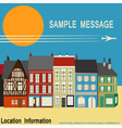 High Street Shops vector image
