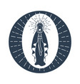 immaculate conception of the virgin mary vector image