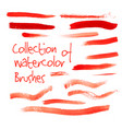 collection of watercolor brushes vector image vector image