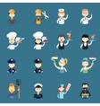 Large set of funny professional people avatars vector image