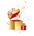 gift boxes with confetti vector image