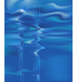 blue water background vector image vector image