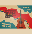 268guitar contest poster vector image vector image