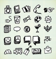 Doodle Icons vector image