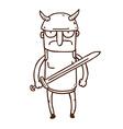 Hand Drawn Gladiator vector image
