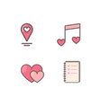 heart decorated icons vector image