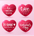 hearts inscription vector image
