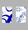 mega pack brochure design template flyer set vector image