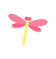 pink dragonfly cartoon vector image