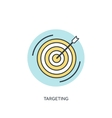 Target flat lined icon vector image