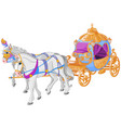 the golden carriage vector image