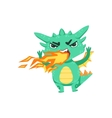 Little Anime Style Baby Dragon Pissed Off vector image