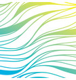 color hand-drawing wave sea background blue vector image