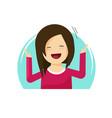 happy surprised woman  flat vector image