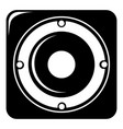 speaker icon simple style vector image