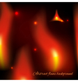 Abstract fiery background vector image vector image