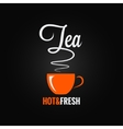 tea cup flavor design background vector image