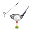 Golf Realistic Set vector image
