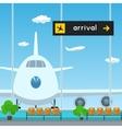 Waiting Room in Airport  Scoreboard Arrivals vector image