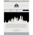 Business template web site vector image