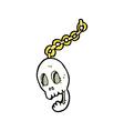 comic cartoon chain vector image