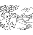 Goat Coloring Pages vector image