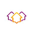 housing line icon roof realty logo vector image