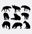 Hyena mammal wild animal silhouette 2 vector image