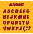 Kids alphabet or 3d font with letters vector image