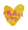 Mother s day card with heart vector image
