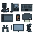 Office equipment set of icon vector image