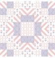 Patchwork quilt pattern tiles vector image