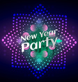 stylish glowing new year party vector image